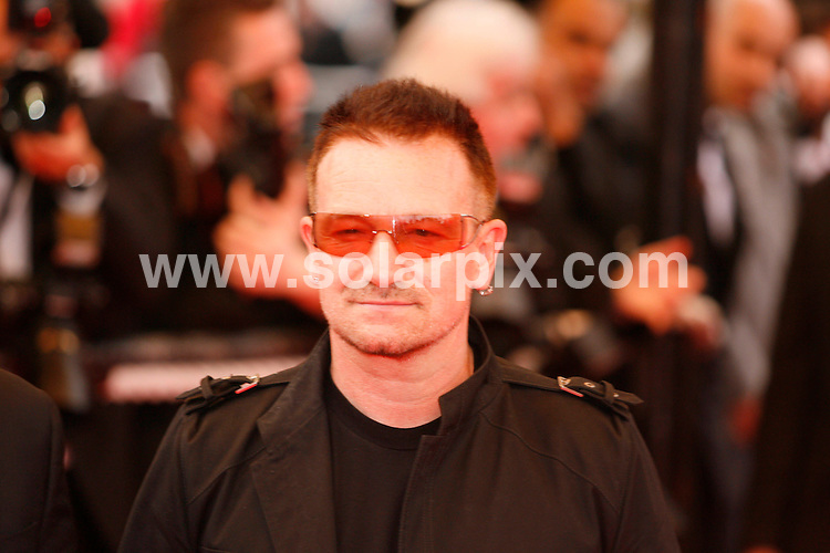 **ALL ROUND PICTURES FROM SOLARPIX.COM**.**SYNDICATION RIGHTS FOR UK, SPAIN, PORTUGAL, AUSTRALIA, S.AFRICA & DUBAI (U.A.E) ONLY**.The 2008 Cannes Film Festival the film premiere of Un Conte de Noel Premiere at the Palais de Festival in Cannes France..This pic:Bono.JOB REF:6430-PHZ/Pixplanete      DATE:16_05_08 .**MUST CREDIT SOLARPIX.COM OR DOUBLE FEE WILL BE CHARGED* *UNDER NO CIRCUMSTANCES IS THIS IMAGE TO BE REPRODUCED FOR ANY ONLINE EDITION WITHOUT PRIOR PERMISSION*