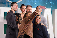 Jason Momoa, Ezra Miller, Gal Gadot, Ben Affleck, Ray Fisher &amp; Henry Cavill at the photocall for &quot;Justice League&quot;, Southampton Row, London, UK. <br /> 04 November  2017<br /> Picture: Steve Vas/Featureflash/SilverHub 0208 004 5359 sales@silverhubmedia.com