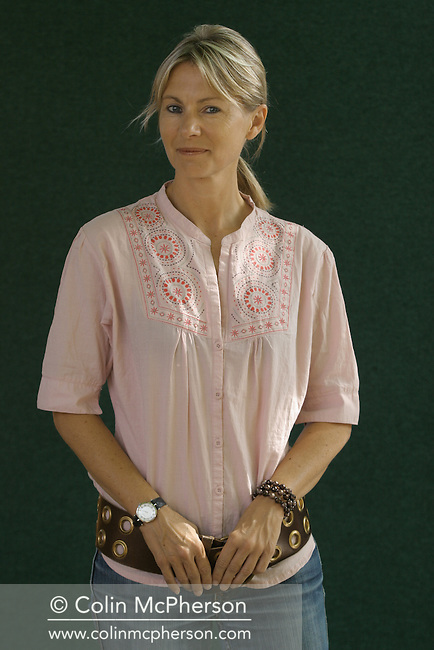 Bestselling author and founder of the Orange literary prize, Kate Mosse pictured at the Edinburgh International Book Festival where she talked about her novel entitled Labyrinth. The Book Festival was the World's largest literary event and featured writers from around the world. The 2006 event featured around 550 writers and ran from 13-28 August.