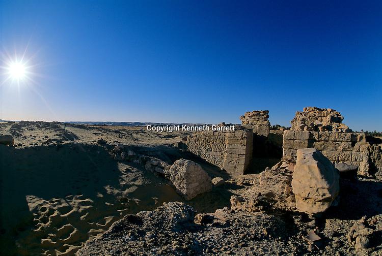 Temple of Alexander the Great, near El Bawati, Egypt; Archaeology; Bahariya Oasis; Greco-Roman;Golden Mummies; Valley of the Golden Mummies; Book originals; mummies