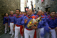 """Gubbio 15 MAY 2006..Festival of the Ceri..The ceraioli of St George  and the """"capodieci""""....http://www.ceri.it/ceri_eng/index.htm.."""