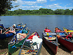 Canoeing on the St. Croix River, Maine, USA