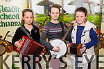 Amy Griffin, Lauren Griffin and Aoife Griffin from Listowel at the kerry Comhaltas Sult na nOg music competition at the IT Tralee on Saturday