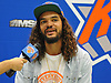 Joakim Noah, a free agent signee of the New York Knicks, speaks during an an interview at his introductory news conference at Madsion Square Garden Training Center in Greenburgh, NY on Friday, July 8, 2016.