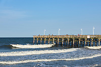 Fishing pier at Little Island Park, Virginia Beach, Virginia, USA