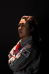 Soyeon Yi made headlines in 2008 as Korea's first astronaut, where she conducted research for 10 days at the International Space Station. Yi wears the flight suit she traveled in during the space mission. Today, she volunteers at The Museum of Flight Charles Simonyi Space Gallery and lives southeast of Seattle in an area she says reminds her of the farmland on which she grew up. Photo by Daniel Berman for Cosmopolitan.com