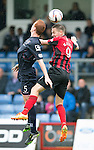 Ross County v St Johnstone...10.08.14  SPFL<br /> Scott Boyd and Steven MacLean<br /> Picture by Graeme Hart.<br /> Copyright Perthshire Picture Agency<br /> Tel: 01738 623350  Mobile: 07990 594431