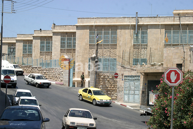 The Building which will be held the Sixth Conference of the Fatah movement in the West Bank city of Bethlehem on August 02 2009. Photo by Najeh Hashlamoun
