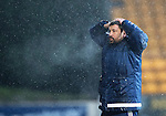 St Johnstone v Hamilton Accies…28.01.17     SPFL    McDiarmid Park<br />A bad day for accies boss Martin Canning<br />Picture by Graeme Hart.<br />Copyright Perthshire Picture Agency<br />Tel: 01738 623350  Mobile: 07990 594431