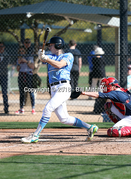 Seth Halvorsen plays in the 2018 Perfect Game MLK Upperclass Championship West on January 12-15, 2018 at Camelback Ranch in Glendale, Arizona (Bill Mitchell)