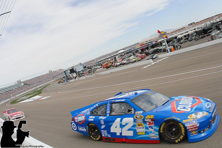 march 11-2012: Tony Stewart #14 Mobil 1/Office Depot Chevrolet wins the Kobalt Tools 400 at Las Vegas Motor Speedway