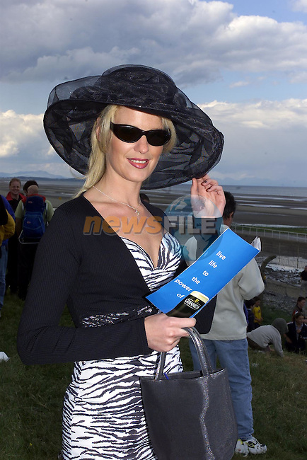 Tracey Boyle Leonard from Mornington Co Meath at the Laytown races in Co Meath.Pic Fran Caffrey Newsfile
