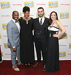 Arbender Robinson, Aurelia Williams, Adam Bashian and Laurel Harris attend the Broadway Opening Night Performance Press Reception for  'In Transit' at Circle in the Square Theatre on December 11, 2016 in New York City.