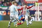 Atletico de Madrid's LucianoVietto (r) and Celta de Vigo's Daniel Wass during Spanish Kings Cup match. January 27,2016. (ALTERPHOTOS/Acero)