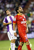 Real Valladolid´s Marc Valiente (l) and Getafe's Lafita (r) during La Liga match.August 31,2013. (ALTERPHOTOS/Victor Blanco)