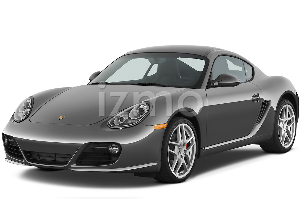 Front three quarter view of a 2009 Porsche Cayman S.