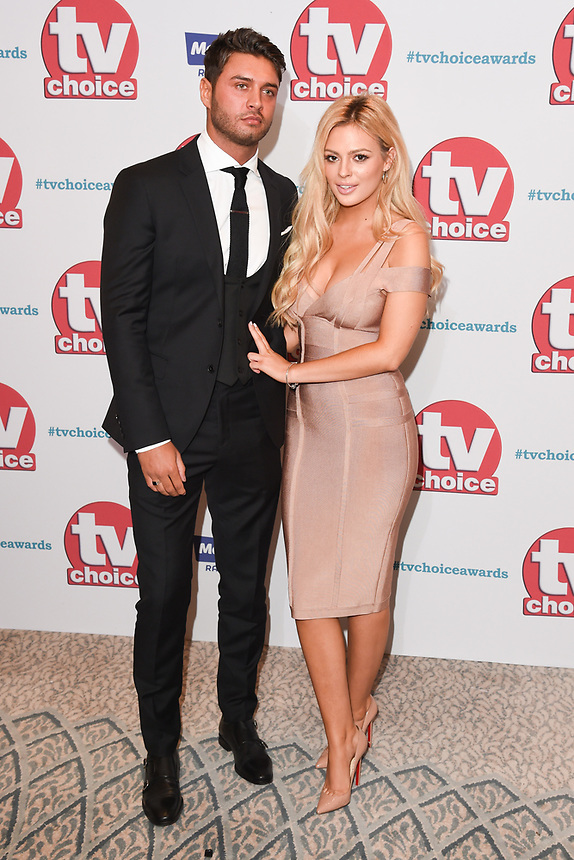 Mike Thalssitis and Danielle Sellers<br /> arriving for the TV Choice Awards 2017 at The Dorchester Hotel, London. <br /> <br /> <br /> ©Ash Knotek  D3303  04/09/2017