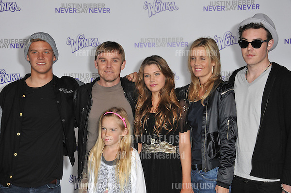 "Rick Schroder & family at the Los Angeles premiere of ""Justin Bieber: Never Say Never"" at the Nokia Theatre LA Live..February 8, 2011  Los Angeles, CA.Picture: Paul Smith / Featureflash"