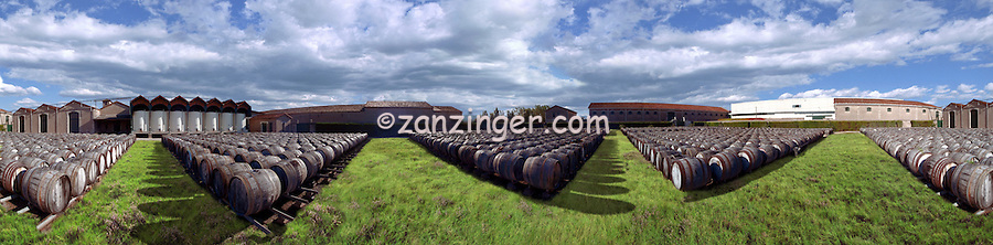 Napa Winery, wine barrels outside CGI Backgrounds, ,Beautiful Background