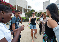 Photo from OxyEngage 2011, The Getty Center, Los Angeles. Hosted by Occidental College's Office of Student Life, the program is for incoming students. August 26, 2011. (Photo by Marc Campos, Occidental College Photographer)