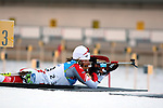 POL Weronika Nowakowska competes during the 20 km Individual Biathlon race as part of the Winter Universiade Trentino 2013 on 13/12/2013 in Lago Di Tesero, Italy.<br /> <br /> &copy; Pierre Teyssot - www.pierreteyssot.com
