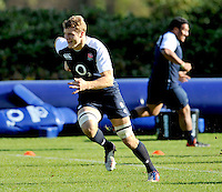 Bagshot, England. Joe Launchbury of England during the England training session held at Pennyhill Park on November 8, 2012 in Bagshot, England.