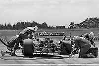 BROOKLYN, MI - JULY 16: Tom Sneva makes a pit stop in his Penske PC6B/Cosworth TC en route to a second place finish in the Norton Twin 200 USAC IndyCar race at the Michigan International Speedway near Brooklyn, Michigan, on July 16, 1978.