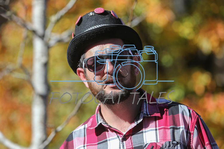 Chris Lash, of Carson City, watches the 79th Nevada Day parade in Carson City, Nev., on Saturday, Oct. 28, 2017. <br />Photo by Cathleen Allison/Nevada Momentum