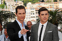 "Matthew McConaughey, Zac Efron Matthew - "" Paperboy "" photocall at the 65th Cannes Film Festival at the Palais des Festivals..May 24th, 2012."
