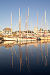 Port Townsend, Wooden Boat Festival, Port Hudson Marina, boat harbor, classic sailboats, Olympic Peninsula, Washington State, Pacific Northwest, USA,