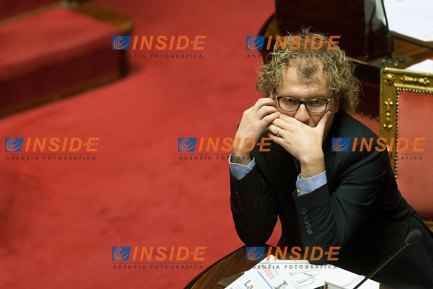 Luca Lotti<br /> Roma 06-08-2014  Senato. Discussione sul DdL Riforme costituzionali che prevede anche la riforma del Senato. <br /> Photo Samantha Zucchi Insidefoto