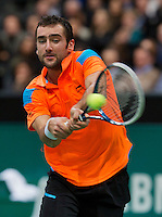 Rotterdam, The Netherlands. 15.02.2014. Marin Cilic(KRO) at the ABN AMRO World tennis Tournament<br /> Photo:Tennisimages/Henk Koster