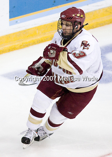 Pat Gannon (Boston College - Arlington, MA) - The Boston College Eagles defeated the Miami University Redhawks 4-0 in the 2007 NCAA Northeast Regional Final on Sunday, March 25, 2007 at the Verizon Wireless Arena in Manchester, New Hampshire.