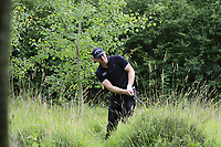 Scott Henry (SCO) plays his 2nd shot from the deep rough on the 18th hole during Sunday's Final Round of the Northern Ireland Open 2018 presented by Modest Golf held at Galgorm Castle Golf Club, Ballymena, Northern Ireland. 19th August 2018.<br /> Picture: Eoin Clarke | Golffile<br /> <br /> <br /> All photos usage must carry mandatory copyright credit (&copy; Golffile | Eoin Clarke)