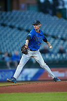 Duke Blue Devils starting pitcher Mitch Stallings (47) in action against the Clemson Tigers in Game Three of the 2017 ACC Baseball Championship at Louisville Slugger Field on May 23, 2017 in Louisville, Kentucky. The Blue Devils defeated the Tigers 6-3. (Brian Westerholt/Four Seam Images)