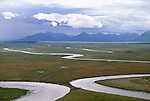 Aerial over Togiak River, Togiak National Wildlife Refuge, Alaska