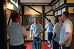 Aldershot Town 0 Torquay United 3, 15/08/2007. Football Conference. Torquay's first game in the Blue Square Premier. A 330 mile round trip to Aldershot Town's Recreation Ground. 4 hours before the game players relax with a game of darts at the team hotel.
