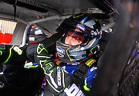 Sept. 20, 2008; Dover, DE, USA; Nascar Sprint Cup Series driver Jimmie Johnson during practice for the Camping World RV 400 at Dover International Speedway. Mandatory Credit: Mark J. Rebilas-