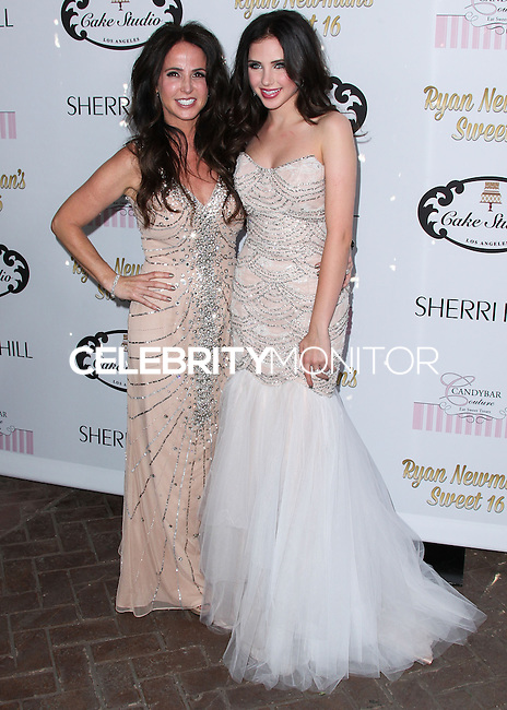HOLLYWOOD, LOS ANGELES, CA, USA - APRIL 27: Jody Newman, Ryan Newman at Ryan Newman's 'Glitz and Glam' Sweet 16 Birthday Party held at Emerson Theatre on April 27, 2014 in Hollywood, Los Angeles, California, United States. (Photo by Xavier Collin/Celebrity Monitor)