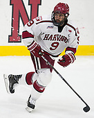 Luke Esposito (Harvard - 9) - The Harvard University Crimson defeated the Yale University Bulldogs 6-4 in the opening game of their ECAC quarterfinal series on Friday, March 10, 2017, at Bright-Landry Hockey Center in Boston, Massachusetts.
