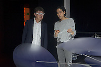 Nao Tamura and Toyo Ito in ti Interconnection work during the Lexus Design Amazing 2014, on April 08, 2014. Photo: Adamo Di Loreto/BuenaVista*photo