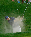 Cromwell, CT-22 JUNE 22 2018-062219MK16 Ryan Armour hits out of the bunker of the 15th hole Saturday afternoon during the third round of the 2019 Travelers Championship at the TPC River Highlands in Cromwell. Michael Kabelka / Republican-American