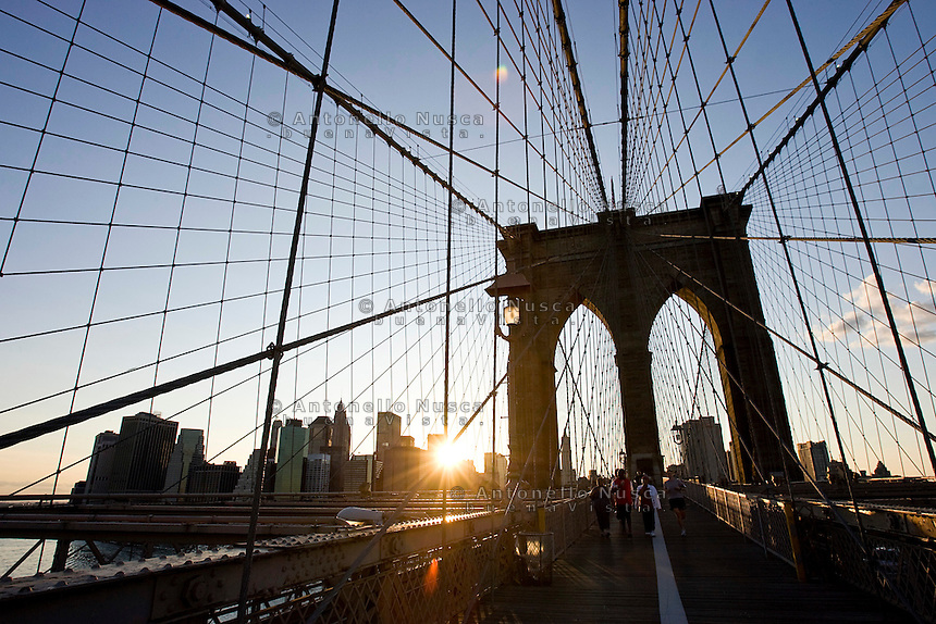 New York, Usa, Giugno 2007. Il Ponte di Brooklyn