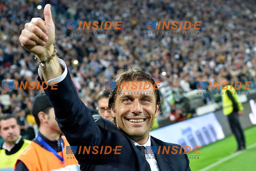 Esultanza Antonio Conte Celebration <br /> Torino 06-05-2014 Juventus Stadium - Football Calcio 2013/2014 Serie A, Juventus - Atalanta, Foto Andrea Staccioli / Insidefoto
