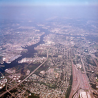 1998 September 05..Aerial..High altitude of census tracts around Elizabeth River in Portsmouth & Norfolk..Gene Woolridge.NEG# 11678 - 40.NRHA#..