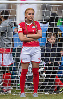 Liaa Gamito (Music Group PYT Pretty Young Things) plays goal during the SOCCER SIX Celebrity Football Event at the Queen Elizabeth Olympic Park, London, England on 26 March 2016. Photo by Andy Rowland.