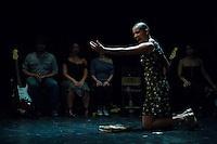 MEDELLIN -COLOMBIA. 25-08-2013. Molienda Teatral_Matacandelas durante la Fiesta de las Artes Escenicas en la ciudad de Medellin. Photo: VizzorImage / Str