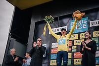 76th Paris-Nice 2018 GC winner Marc Soler (ESP/Movistar) on the podium in Nice<br /> <br /> Stage 8: Nice > Nice (110km)