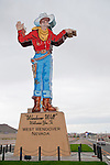 Wendover Will neon sign at the west entrance to Wendover, Nev., a gateway to the west