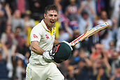 3rd December 2017, Adelaide Oval, Adelaide, Australia; The Ashes Series, Second Test, Day 2, Australia versus England; Shaun Marsh of Australia celebrates his century